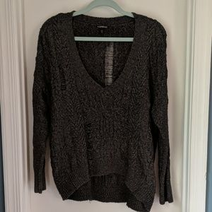 Express Distressed Oversized Sweater